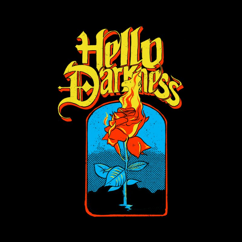 Hello Darkness - Flaming Rose Women's Tank by RJ Artworks's Artist Shop