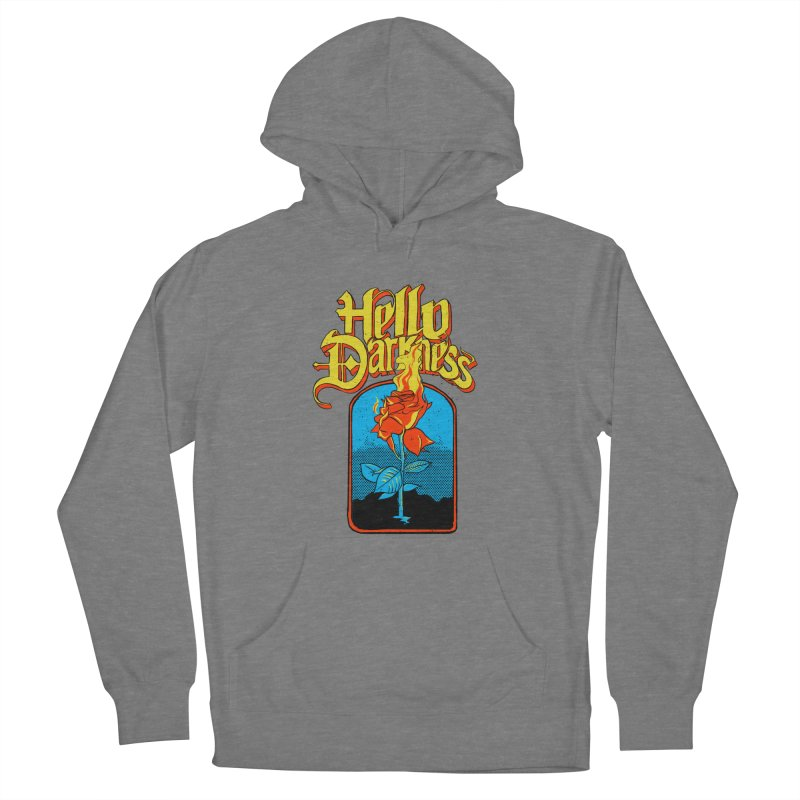 Hello Darkness - Flaming Rose Women's Pullover Hoody by RJ Artworks's Artist Shop