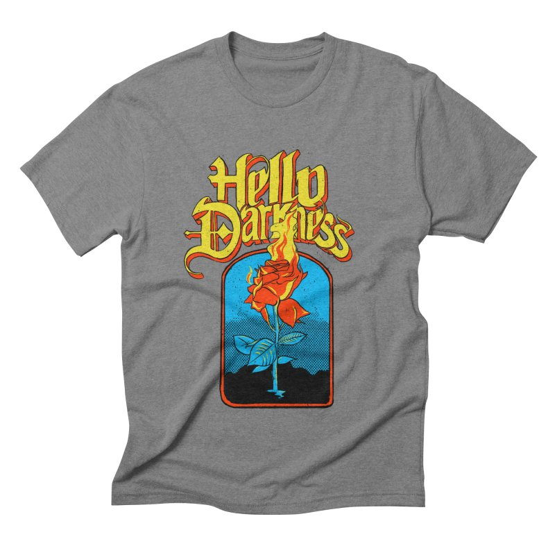 Hello Darkness - Flaming Rose Men's T-Shirt by RJ Artworks's Artist Shop