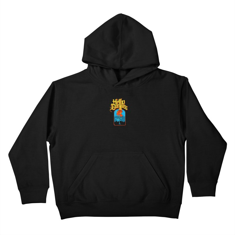 Hello Darkness - Flaming Rose Kids Pullover Hoody by RJ Artworks's Artist Shop