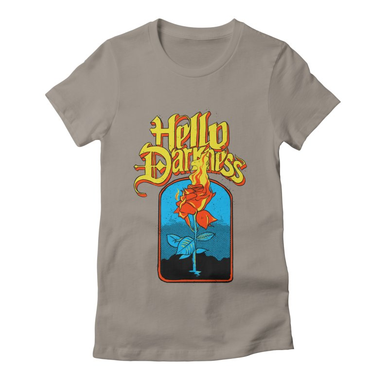 Hello Darkness - Flaming Rose Women's T-Shirt by RJ Artworks's Artist Shop