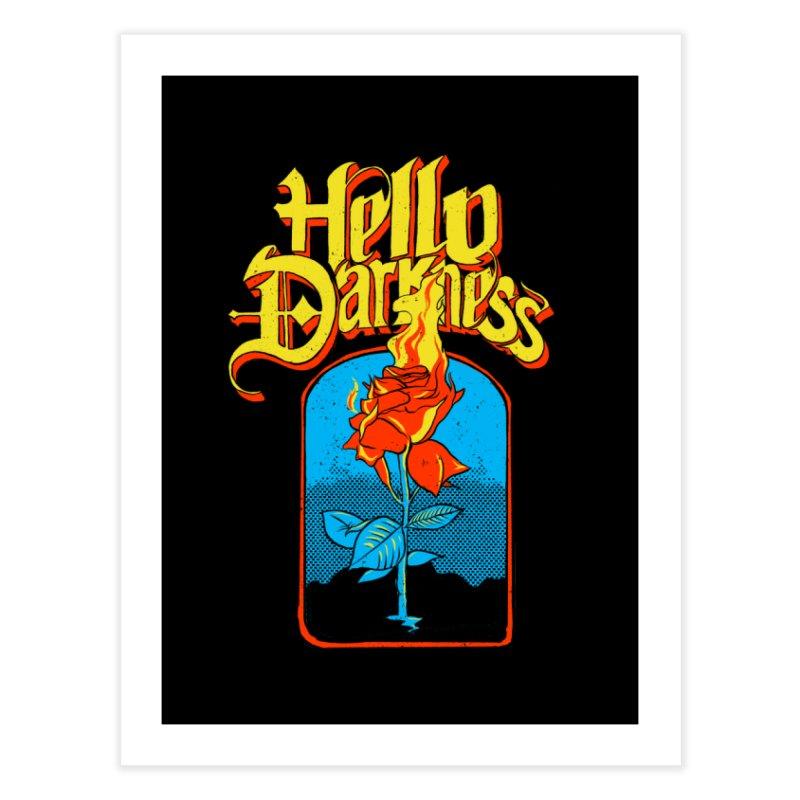 Hello Darkness - Flaming Rose Home Fine Art Print by RJ Artworks's Artist Shop