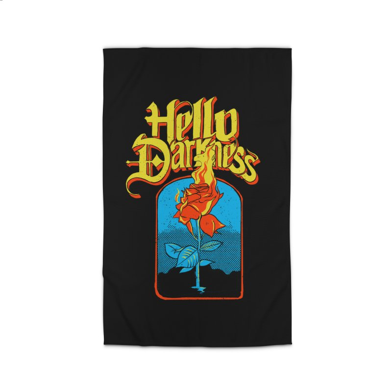 Hello Darkness - Flaming Rose Home Rug by RJ Artworks's Artist Shop