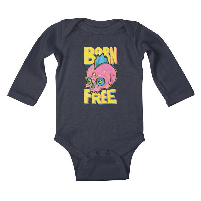 Born Free Kids Baby Longsleeve Bodysuit by RJ Artworks's Artist Shop