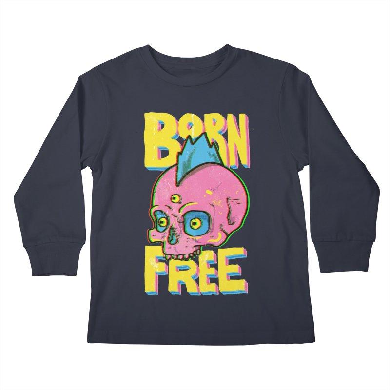 Born Free Kids Longsleeve T-Shirt by RJ Artworks's Artist Shop