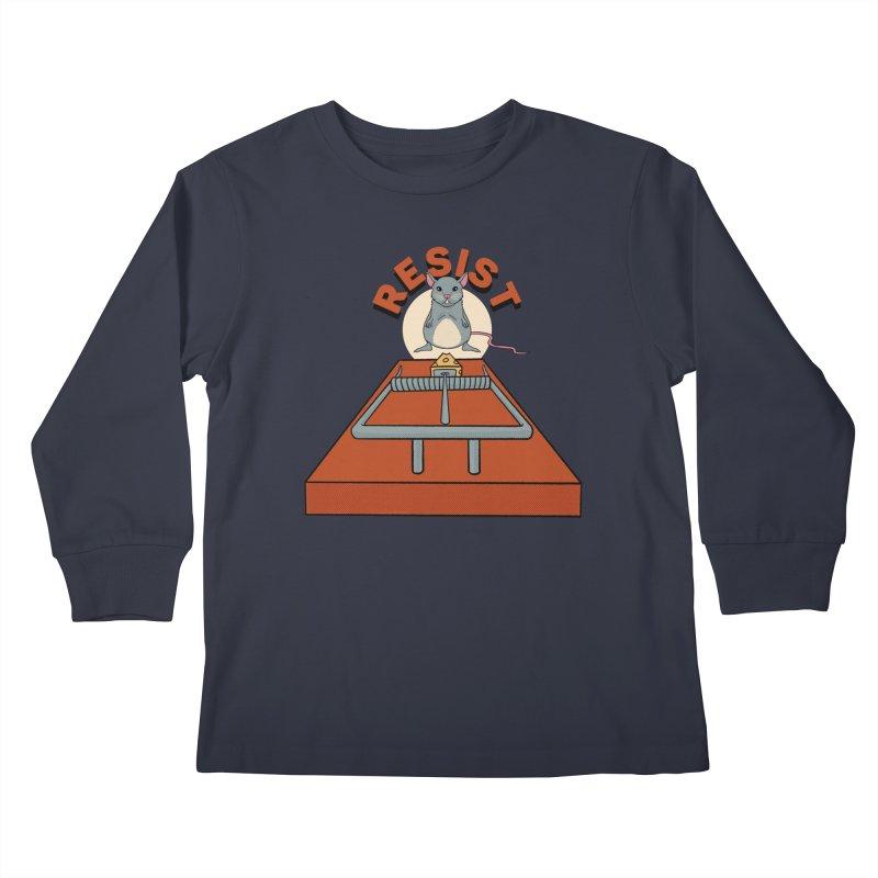 Resist Kids Longsleeve T-Shirt by RJ Artworks's Artist Shop