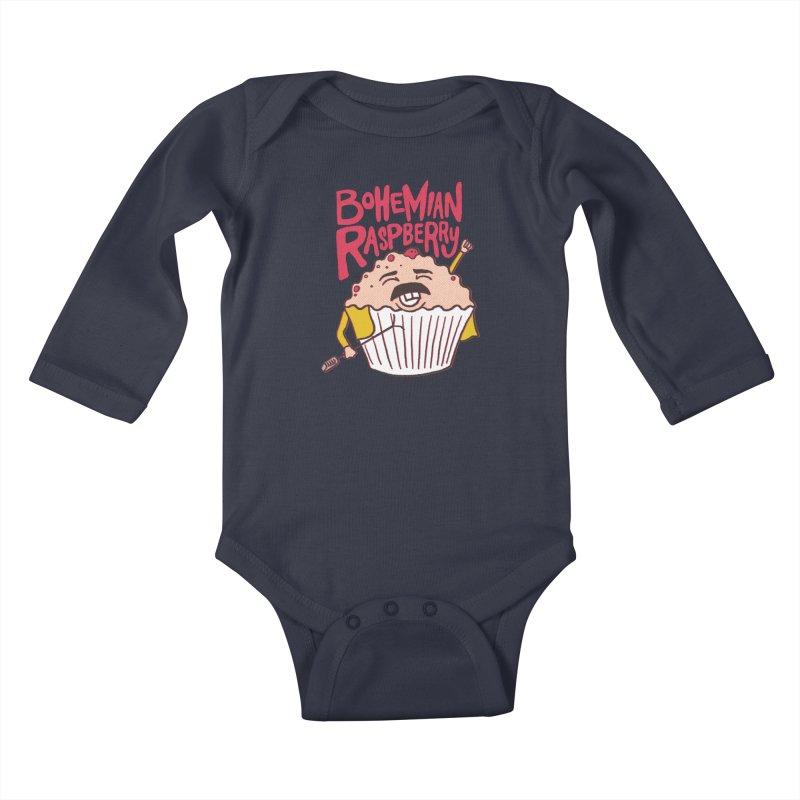Bohemian Raspberry Kids Baby Longsleeve Bodysuit by RJ Artworks's Artist Shop
