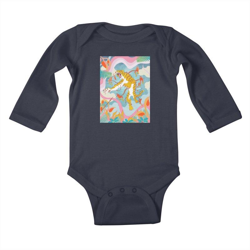 Striping the Stripes Kids Baby Longsleeve Bodysuit by RJ Artworks's Artist Shop
