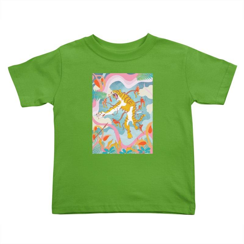 Striping the Stripes Kids Toddler T-Shirt by RJ Artworks's Artist Shop