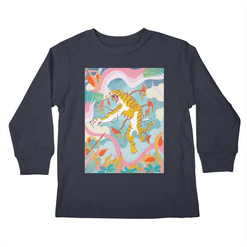 Striping the Stripes Kids Longsleeve T-Shirt by RJ Artworks's Artist Shop