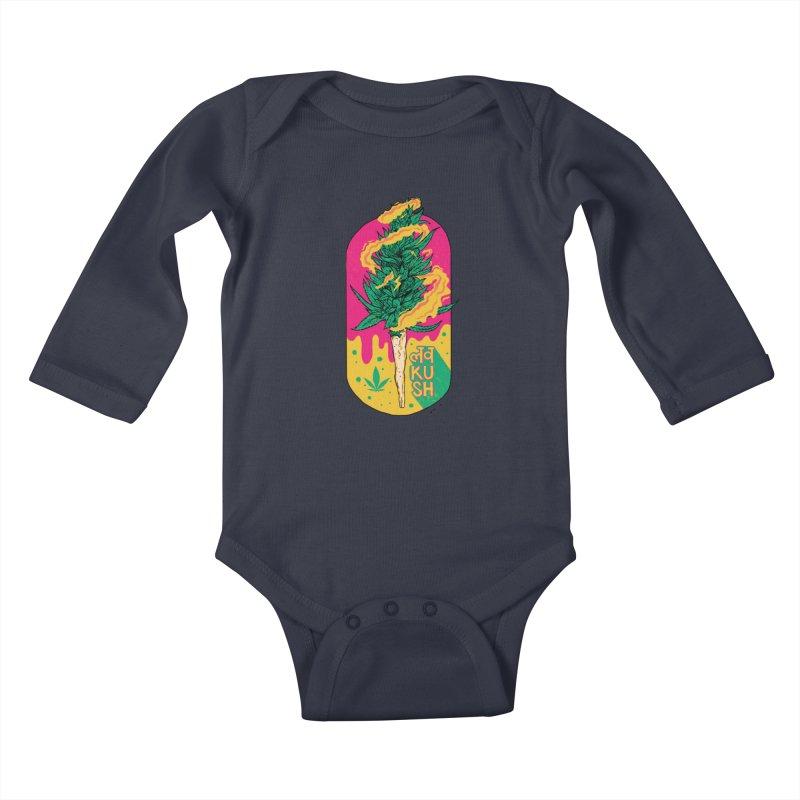Love Kush Kids Baby Longsleeve Bodysuit by RJ Artworks's Artist Shop