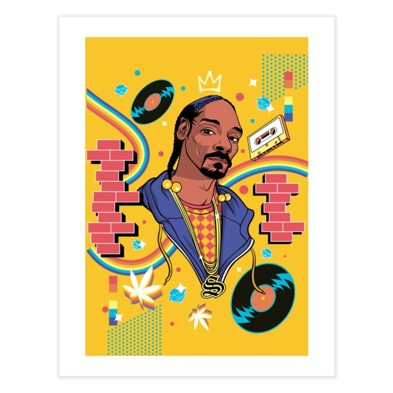 Hip-Hop Heroes: Snoop Home Fine Art Print by RJ Artworks's Artist Shop