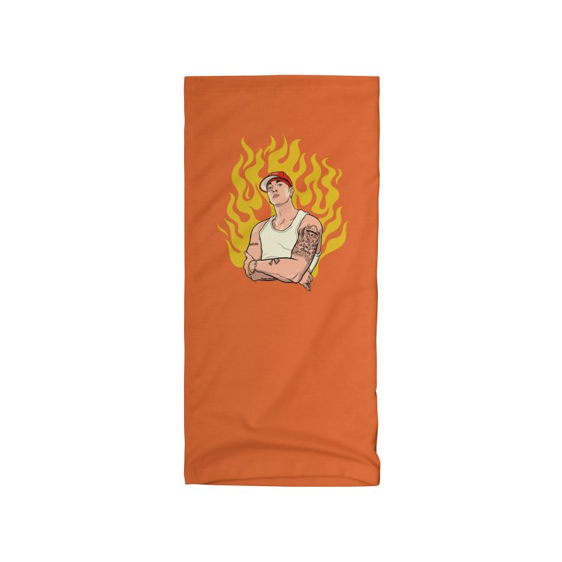 Hip-Hop Heroes: Shady on Fire Accessories Neck Gaiter by RJ Artworks's Artist Shop