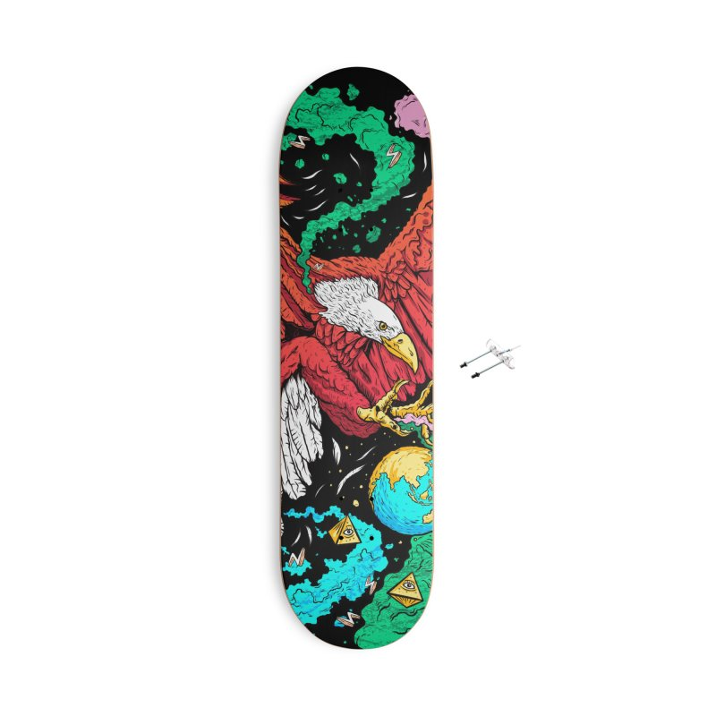 Drop The World Accessories Skateboard by RJ Artworks's Artist Shop