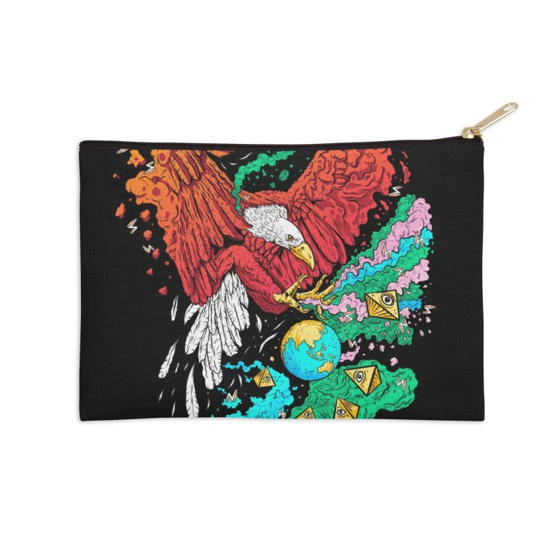 Drop The World Accessories Zip Pouch by RJ Artworks's Artist Shop