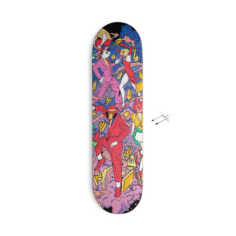 Party Animals Accessories Skateboard by RJ Artworks's Artist Shop