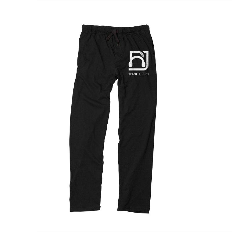 RJ Logo (White) in Men's Lounge Pants Black by RJ Griffith's Merch Store