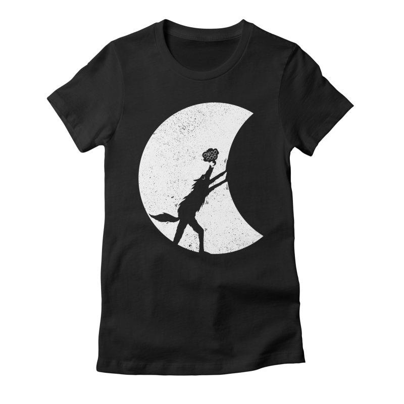 Werewolf Moonlight Women's Fitted T-Shirt by RL76