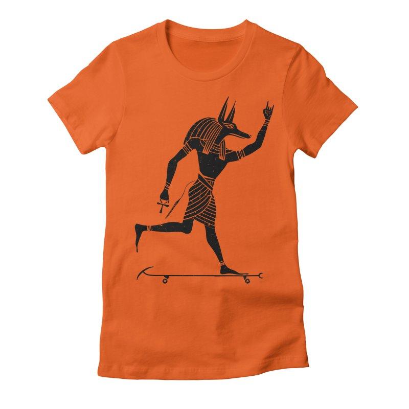 Run Dog Run Women's Fitted T-Shirt by RL76