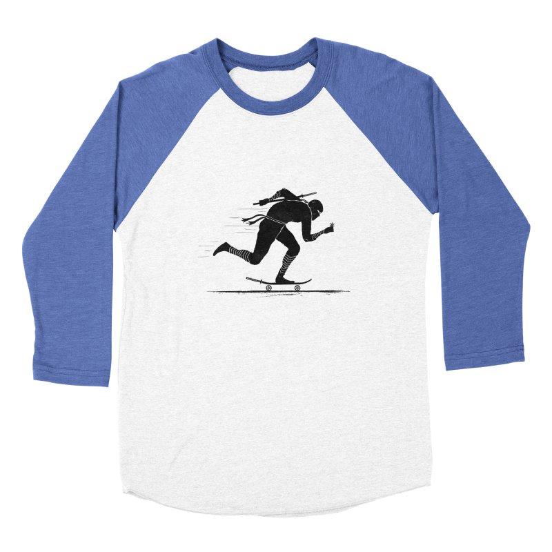 NINJA SKATER Men's Baseball Triblend Longsleeve T-Shirt by RL76