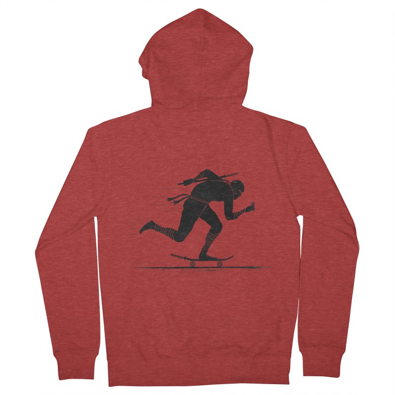 NINJA SKATER Men's French Terry Zip-Up Hoody by RL76