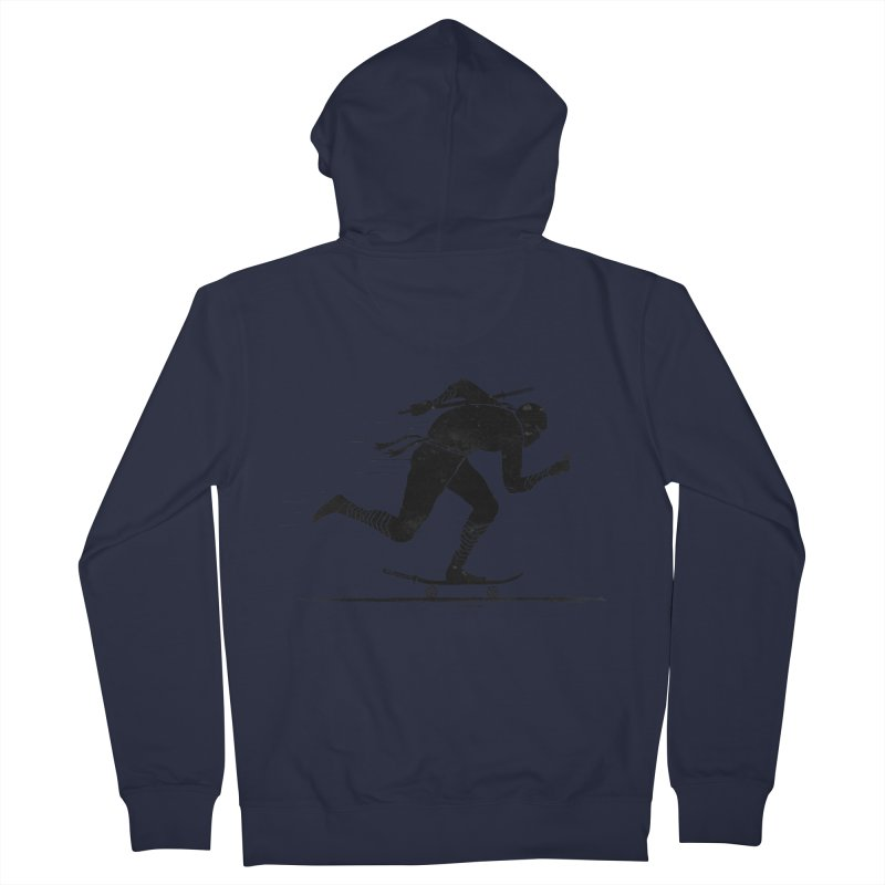 NINJA SKATER Men's French Terry Zip-Up Hoody by RL76