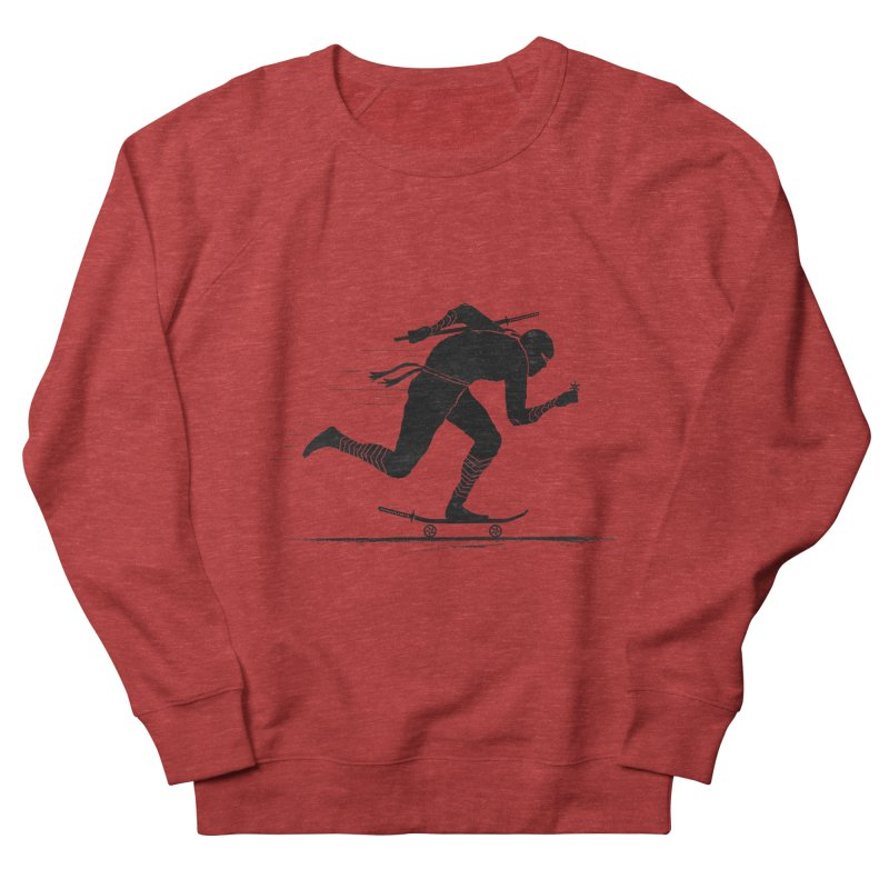 NINJA SKATER Women's French Terry Sweatshirt by RL76