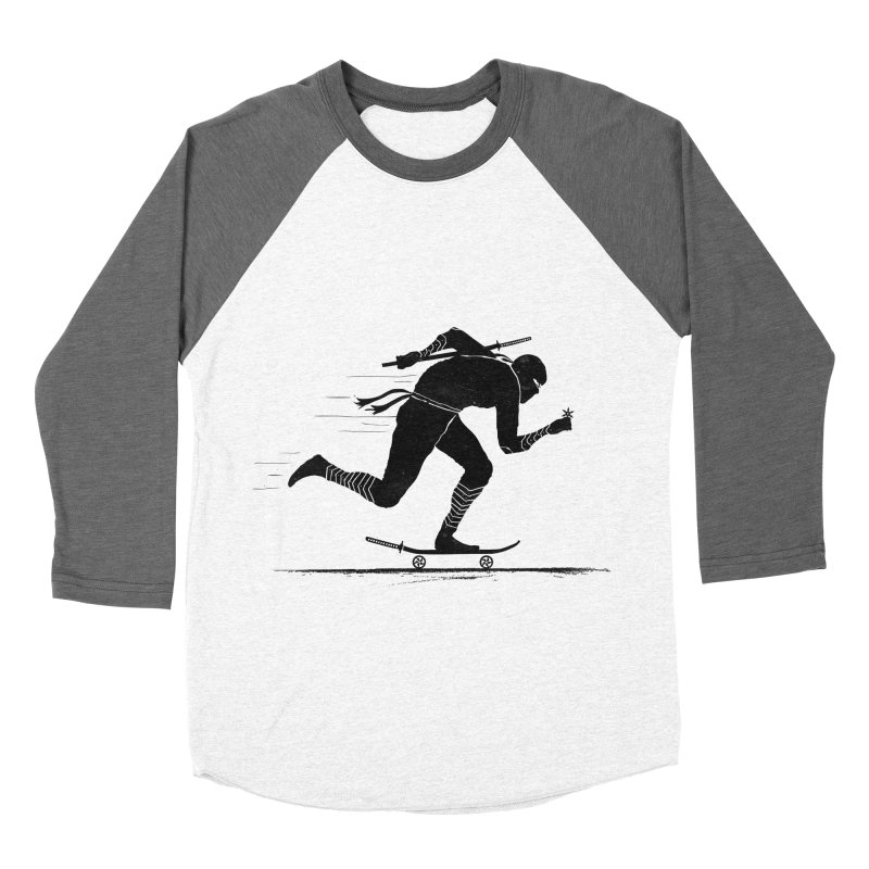 NINJA SKATER Women's Baseball Triblend T-Shirt by RL76