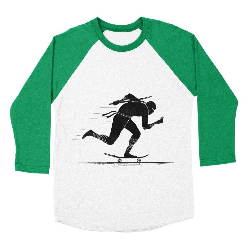 NINJA SKATER Women's Baseball Triblend Longsleeve T-Shirt by RL76