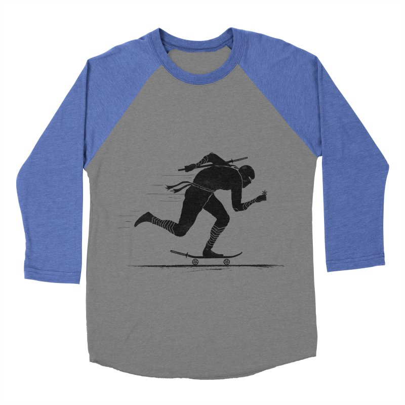 NINJA SKATER Men's Baseball Triblend T-Shirt by RL76