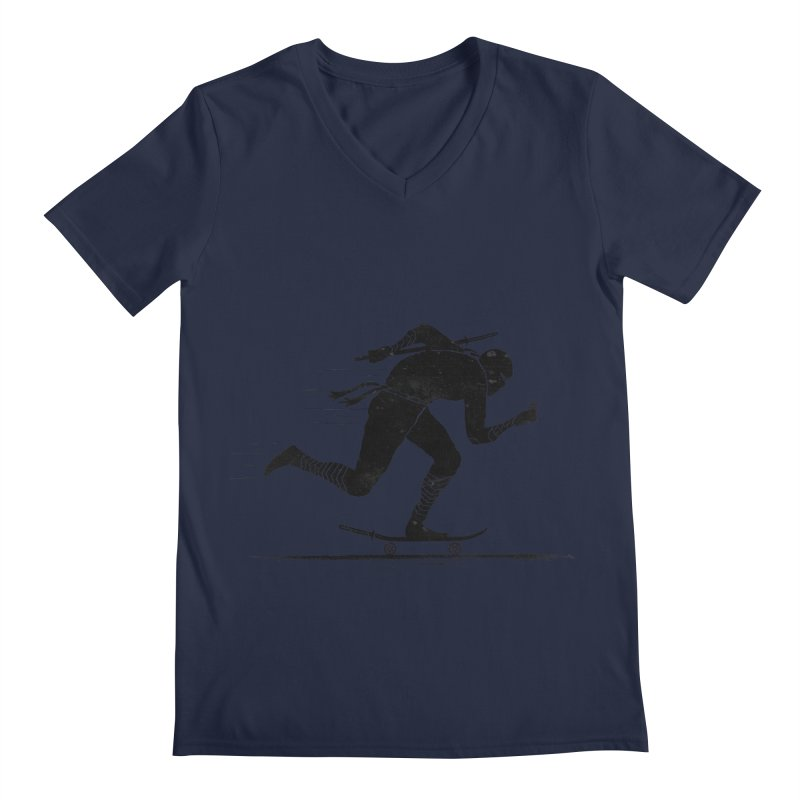 NINJA SKATER Men's Regular V-Neck by RL76