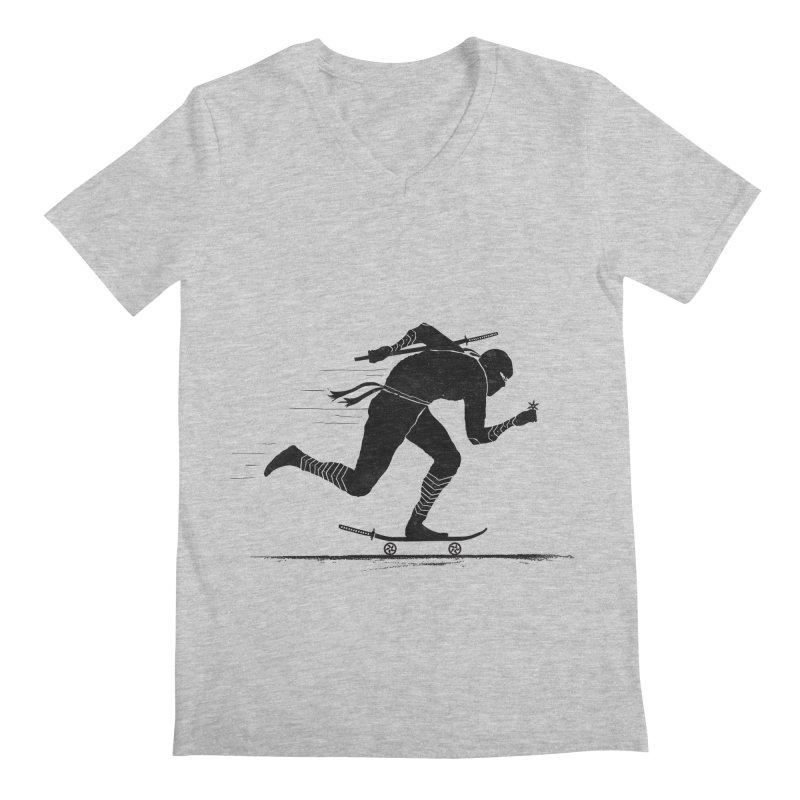 NINJA SKATER Men's Regular V-Neck by RL76