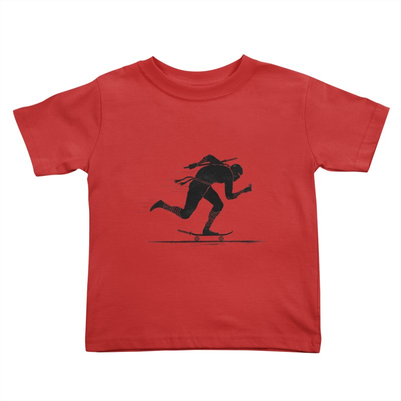 NINJA SKATER Kids Toddler T-Shirt by RL76