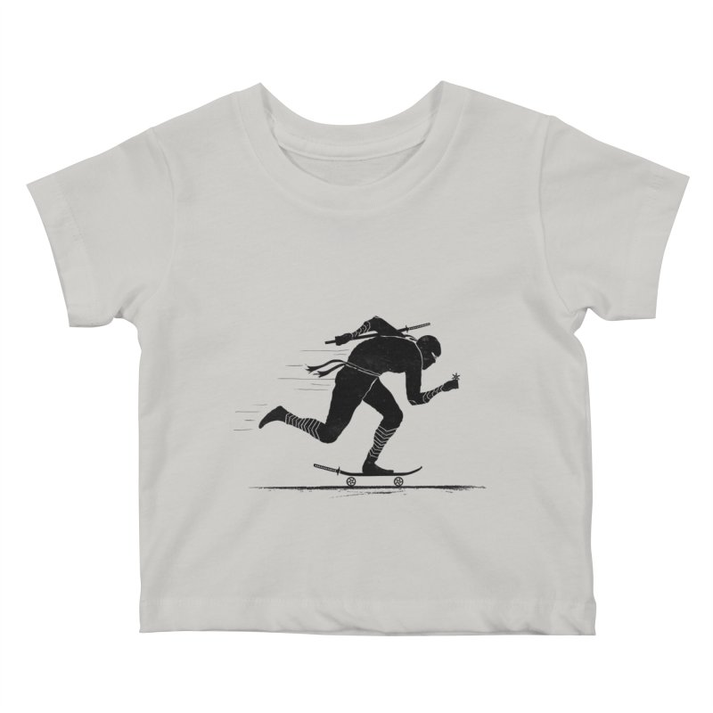 NINJA SKATER Kids Baby T-Shirt by RL76