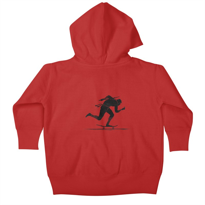 NINJA SKATER Kids Baby Zip-Up Hoody by RL76