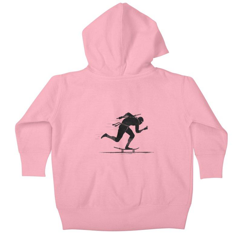 NINJA SKATER Kids Baby Zip-Up Hoody by RL76