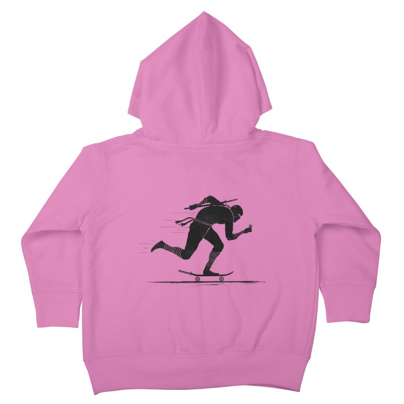 NINJA SKATER Kids Toddler Zip-Up Hoody by RL76