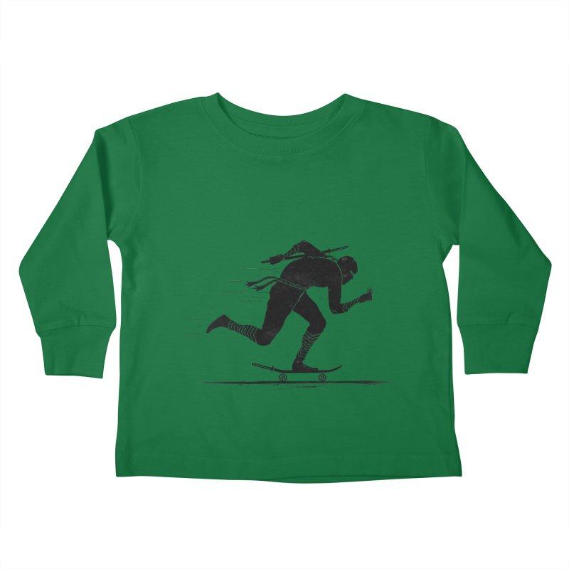 NINJA SKATER Kids Toddler Longsleeve T-Shirt by RL76