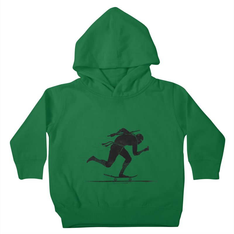 NINJA SKATER Kids Toddler Pullover Hoody by RL76