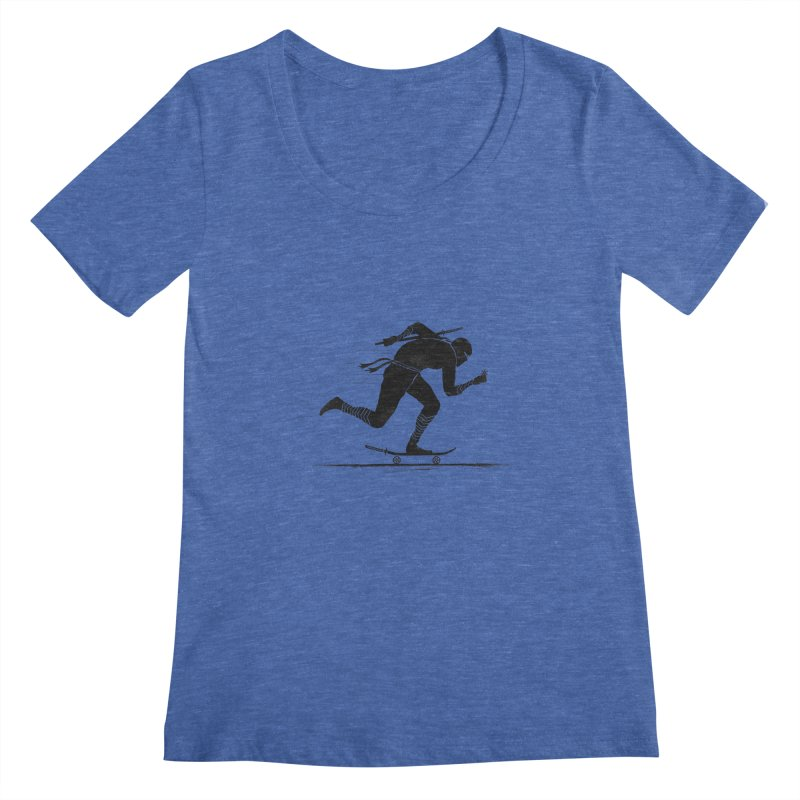 NINJA SKATER Women's Scoopneck by RL76