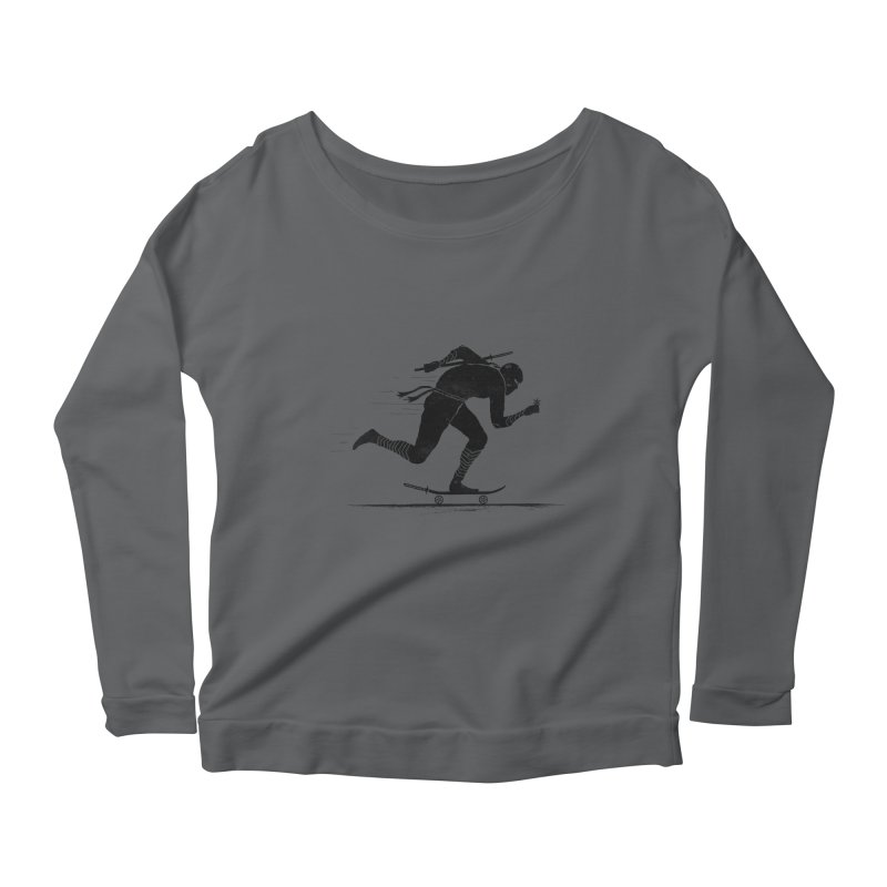 NINJA SKATER Women's Scoop Neck Longsleeve T-Shirt by RL76