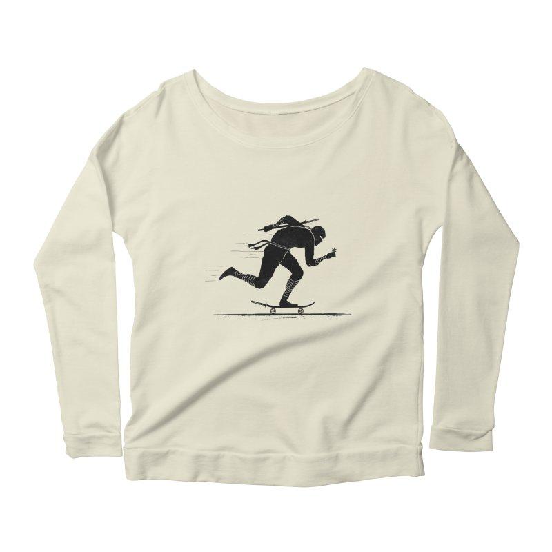 NINJA SKATER Women's Scoop Neck Longsleeve T-Shirt by RL76