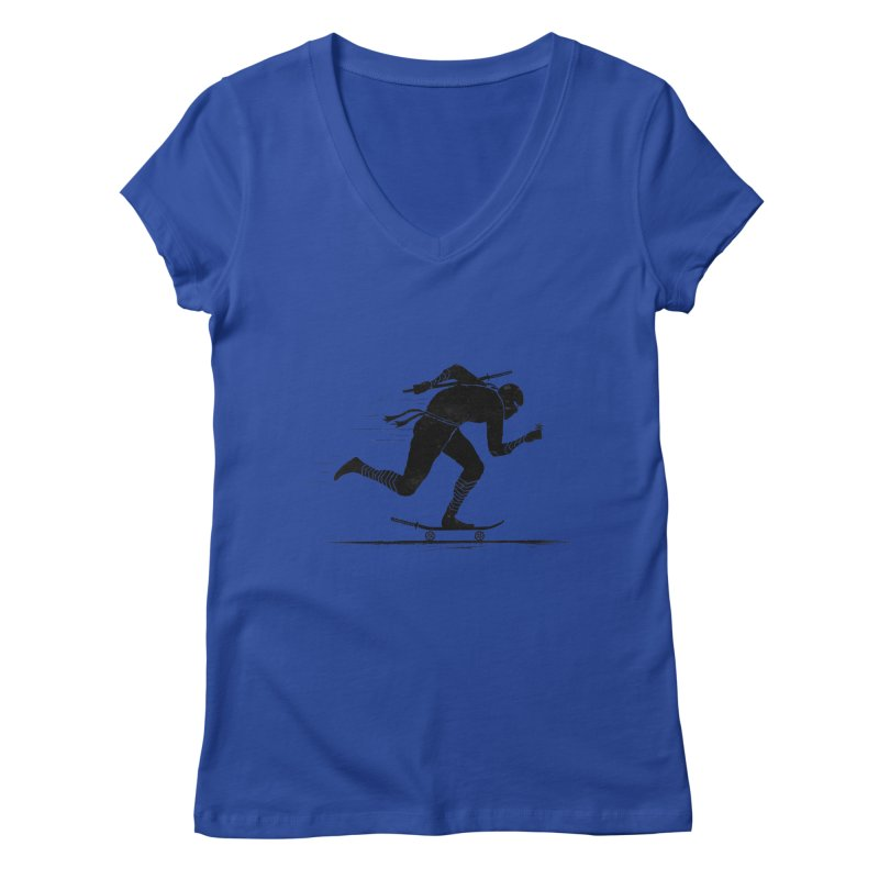 NINJA SKATER Women's Regular V-Neck by RL76