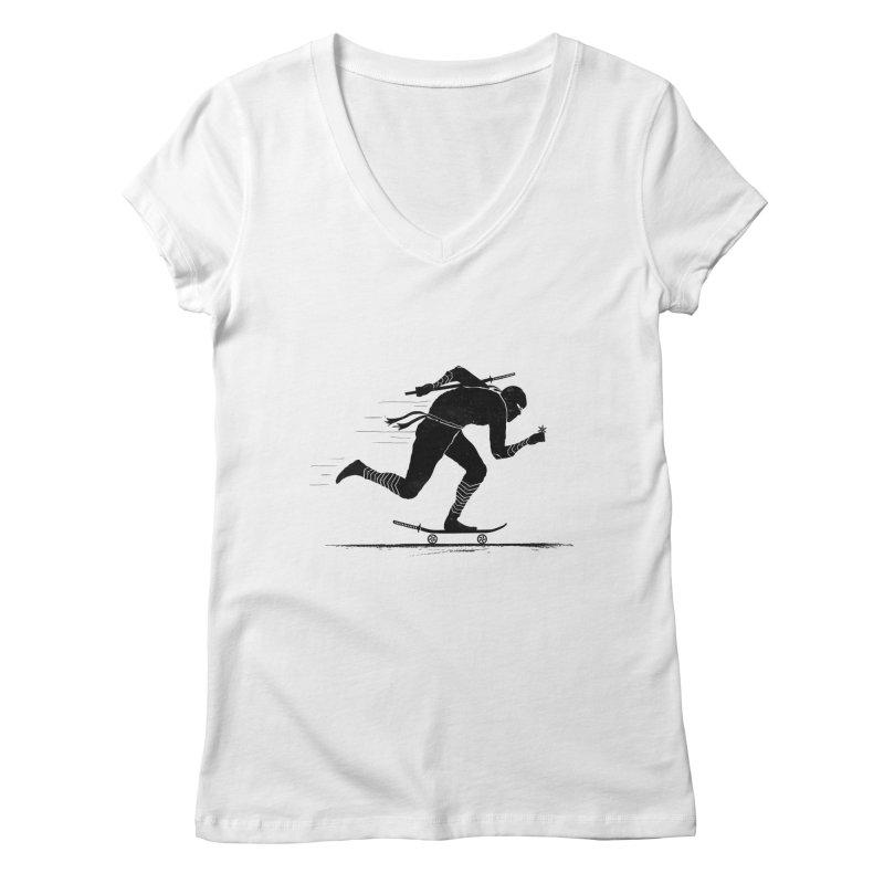 NINJA SKATER Women's V-Neck by RL76