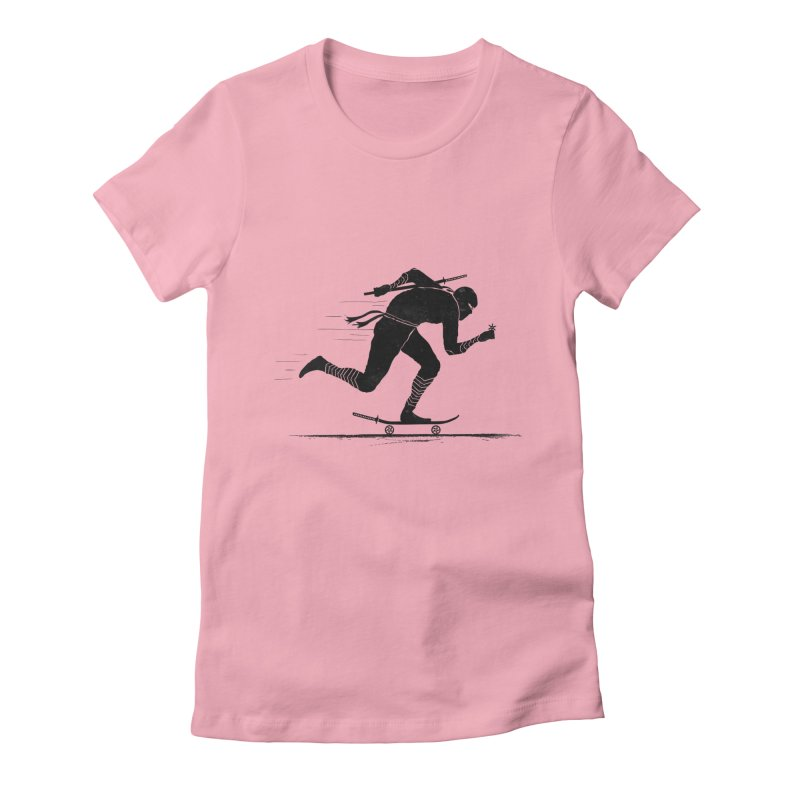 NINJA SKATER Women's Fitted T-Shirt by RL76