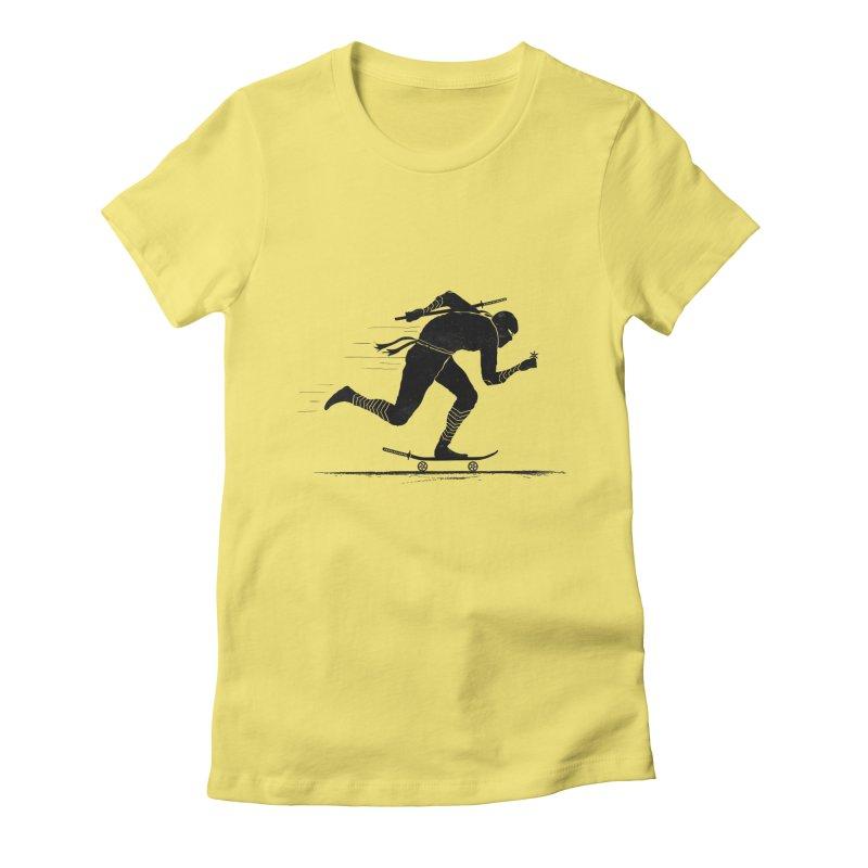 NINJA SKATER Women's Fitted T-Shirt by RL76