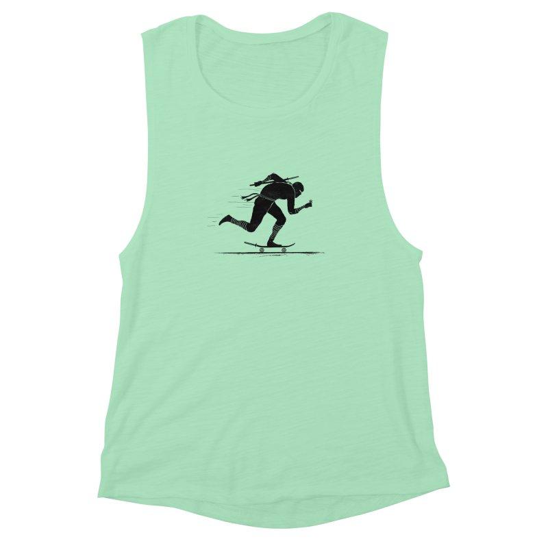 NINJA SKATER Women's Muscle Tank by RL76