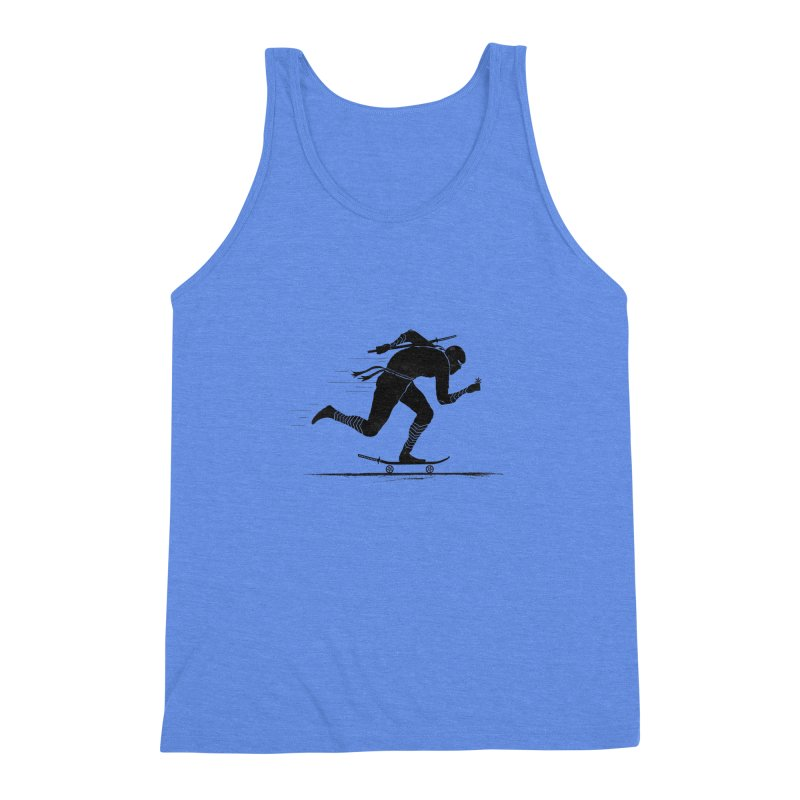NINJA SKATER Men's Triblend Tank by RL76