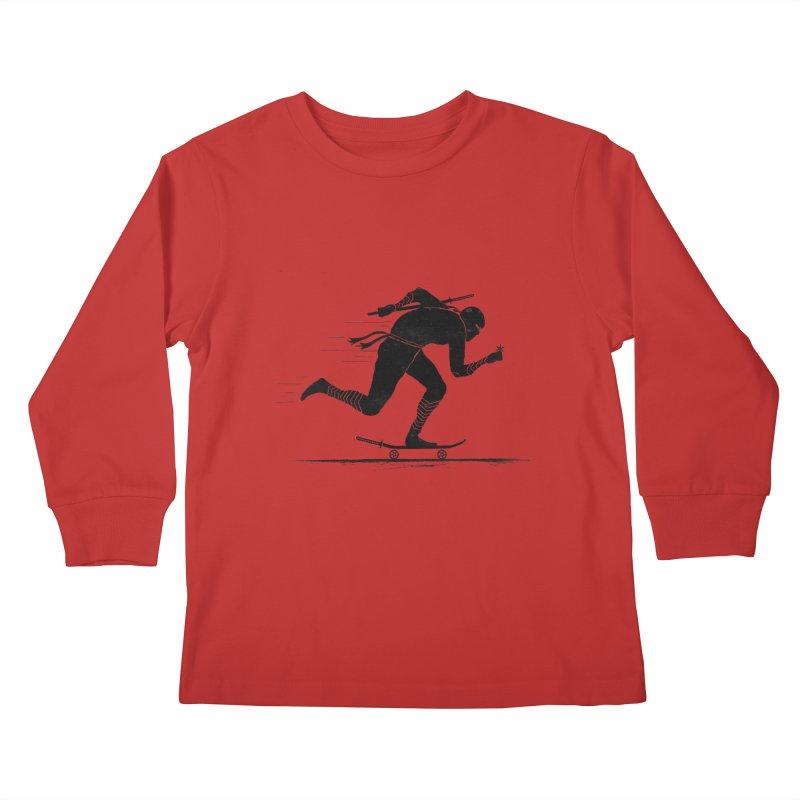 NINJA SKATER Kids Longsleeve T-Shirt by RL76