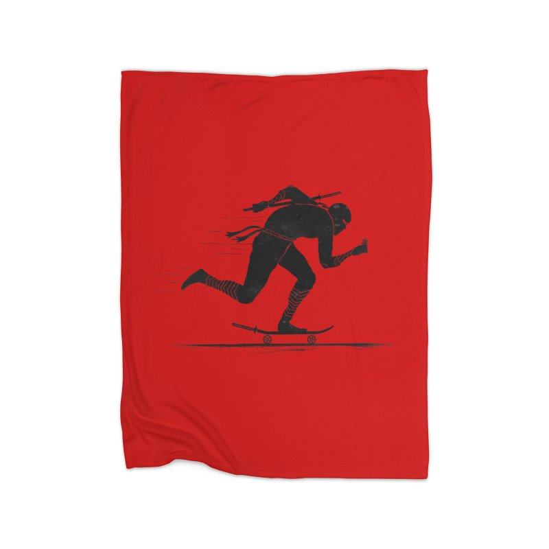 NINJA SKATER Home Fleece Blanket Blanket by RL76
